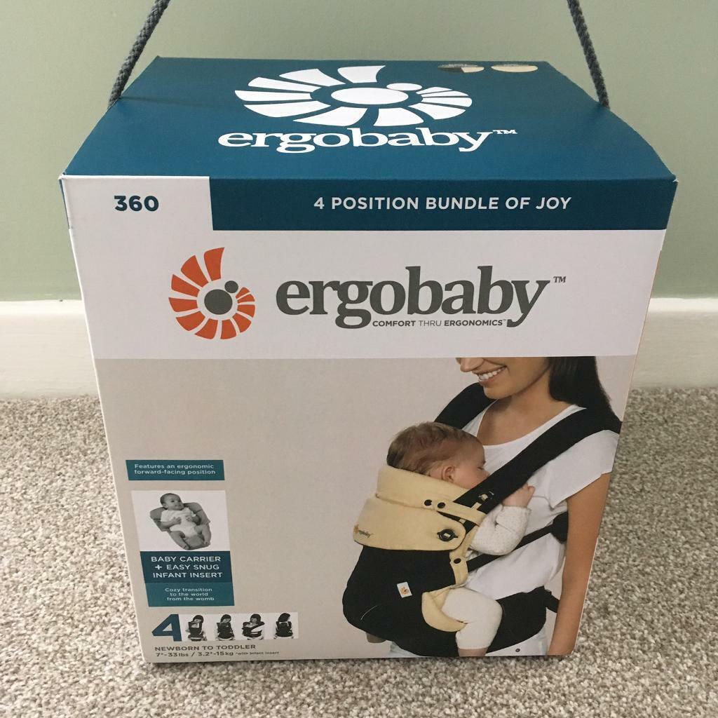 9599f9ecb35 Ergobaby 360 Baby Carrier (Bundle of Joy) with Infant Insert