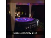 Luxury LED Hot tub hire