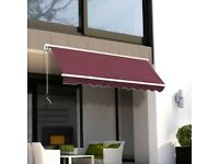 Garden Patio Manual Awning Canopy Sun Shade Shelter Retractable