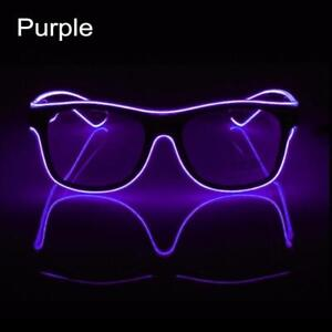 EL Wire Neon Effect Light Up Glow Party Glasses with ON/Flashing Effect