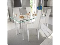 Dining Chairs 4 pcs White Faux Leather-241795