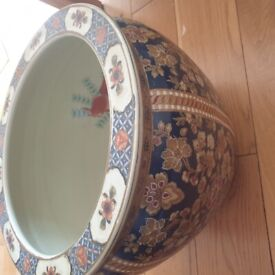 Large ceramic koi fish bowl. Made in china