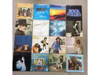 16 vinyl albums.