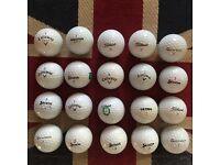 20x Callaway, Srixon, Titleist etc golf balls