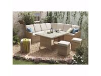 New Hampshire Rattan Corner Sofa and Table Set Garden - 2 Months Old Used Twice