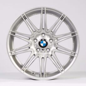 BMW 3 SERIES MV4 225 M SPORT SILVER 19″ 10 DOUBLE SPOKE Free Delivery Nationwide