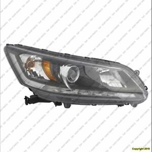 Head Lamp Passenger Side Sedan With Drl Halogen 3.5 Liter Sedan Ex-L Models High Quality Honda Accord 2013-2015