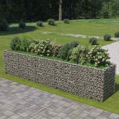 vidaXL Gabion Planter Galvanised Steel 450x90x100cm Raised Bed Stone Basket for sale  Ireland