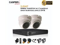2MP VariFocal Dome Cameras and 4CH DVR kits 1080p IR Weatherproof CCTV system | 1TB HDD