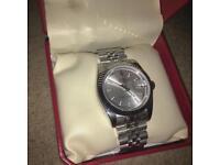 Rolex datejust grey dial stainless steel jublee bracelet