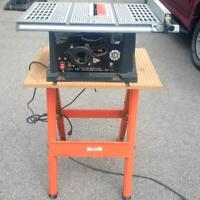 10 inch King Canada table saw with stand