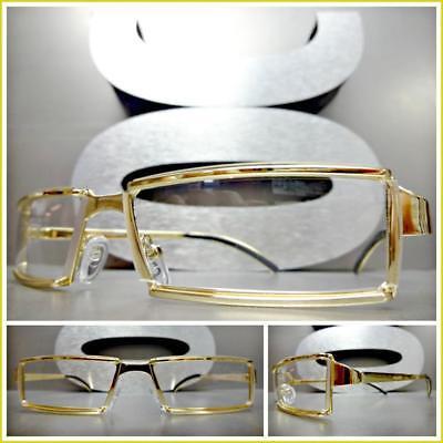 Men's Contemporary Modern Classy Elegant Style Clear Lens EYE GLASSES Gold (Contemporary Glasses Frames)