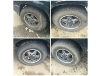 "Land Rover 235-70-16"" Set of Four Alloy Wheels and Tyres"