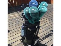 Ben Sayers Golf set with extras and bag/cart