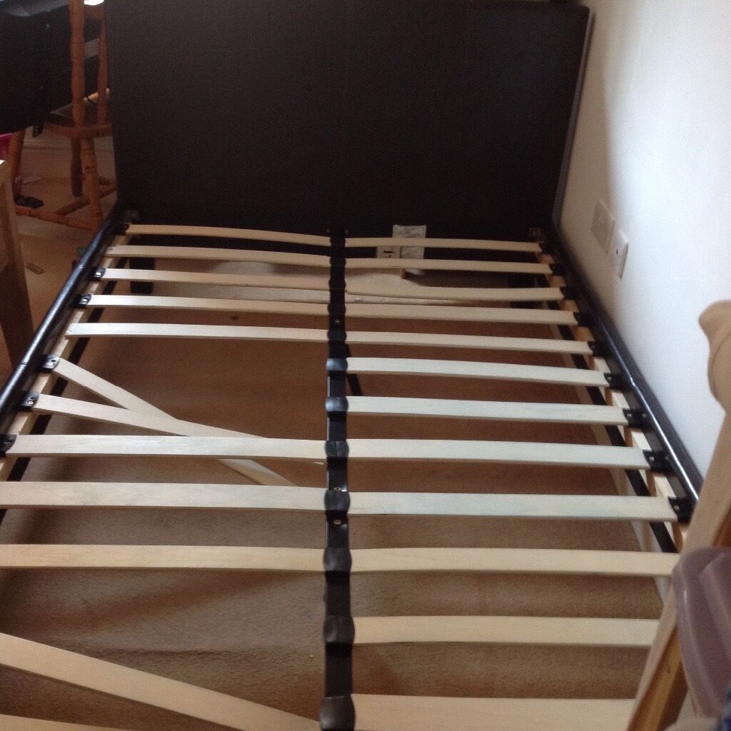 Two small double faux leather bed (frames only) for spares or repair ...