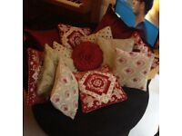 Lovely Selection of 13 Laura Ashley cushions of mixed colours