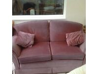 2 and 3 seater sofa plus footstool