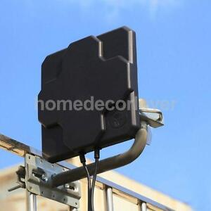 4G LTE Dual Mimo SMA N Male External Antenna for Wifi Router Mobile Black
