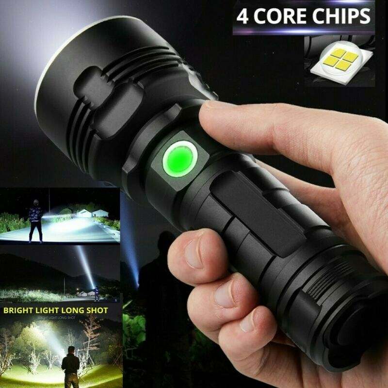 100000LM XLM-P70 Ultra Bright LED Flashlight Torch USB Recha