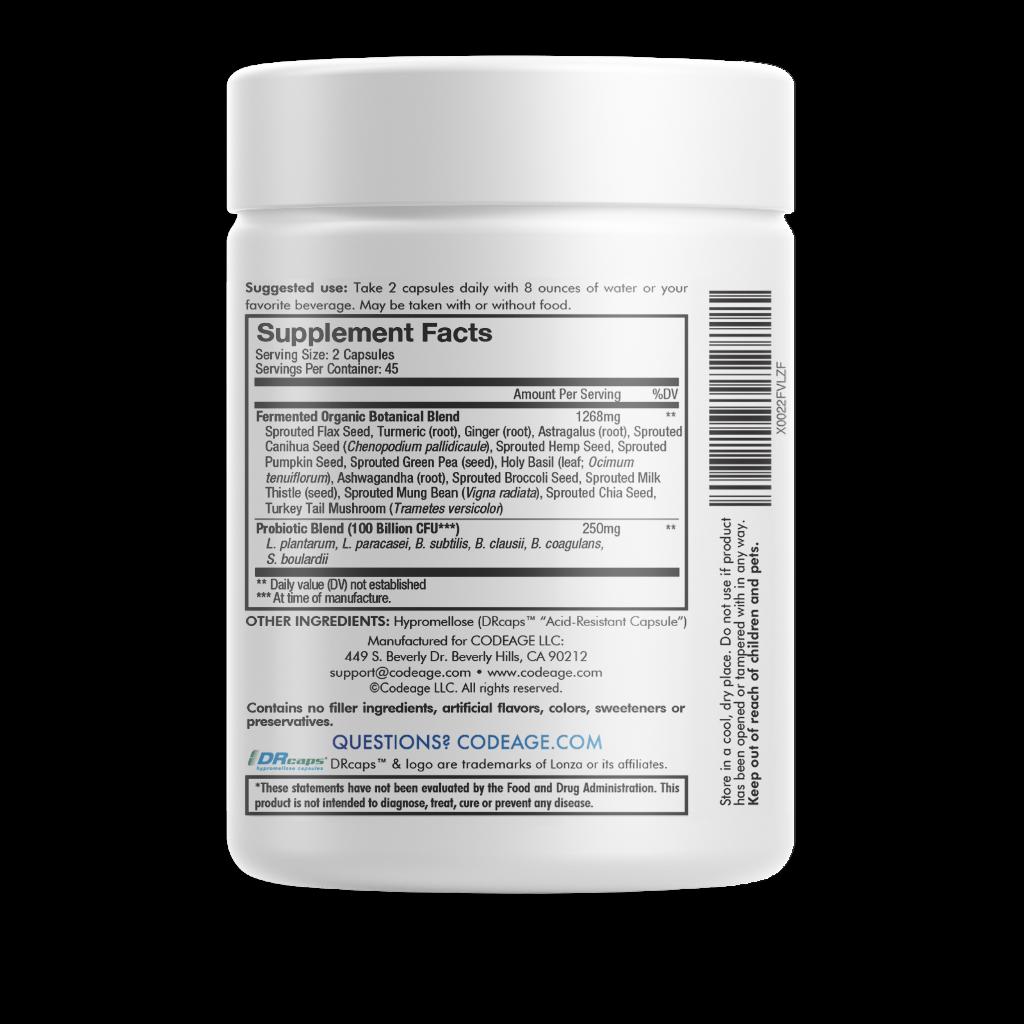 Codeage SBO Probiotics, 100 Billion CFUs Per Serving, Multi Strain Soil Based 2