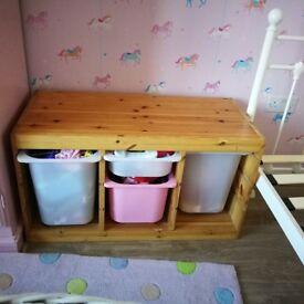 Pine Trofast children's storage IKEA drawers
