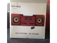 HIFI SYSTEM CD PLAYER. BRAND NEW STILL IN THE BOX. NEVER USED.
