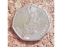 2017 Beatrix Potter Tale Of Peter Rabbit 50p Coin