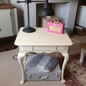 Decorative small painted wooden table