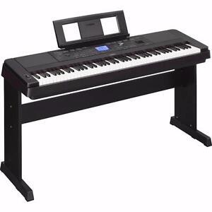 Piano 88 notes pesées avec rythmes Yamaha DGX660