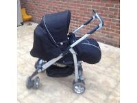 Silver cross carrycot and pushchair