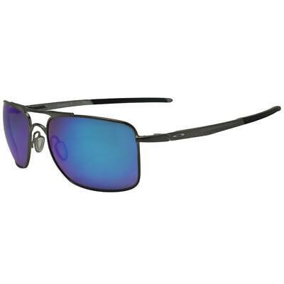 Oakley OO 4124-06 57 Polarized Gauge 8 M Gunmetal Prizm Sapphire Sunglasses .