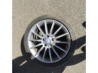 Mercedes Amg 18 alloy multi spoke with tyre