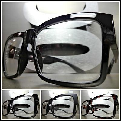 Mens 50s Style (Mens CLASSIC VINTAGE 50s RETRO Style Clear Lens EYE GLASSES Square Fashion)