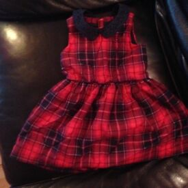 Girls Tommy Hilfiger tartan dress
