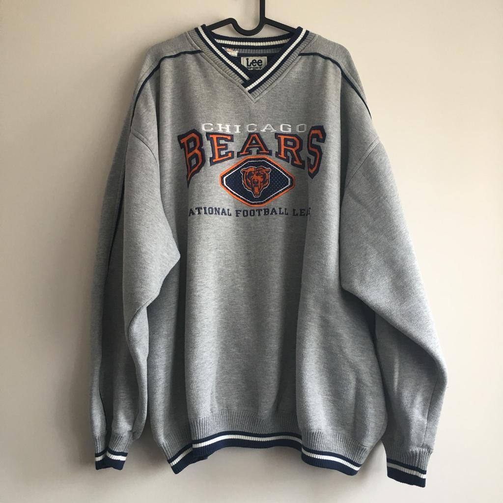 Vintage NFL American football Lee Chicago Bears grey sweatshirt size XXL 1cc598d35
