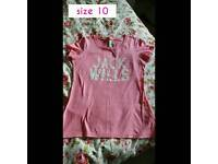Jack wills pink top size 10