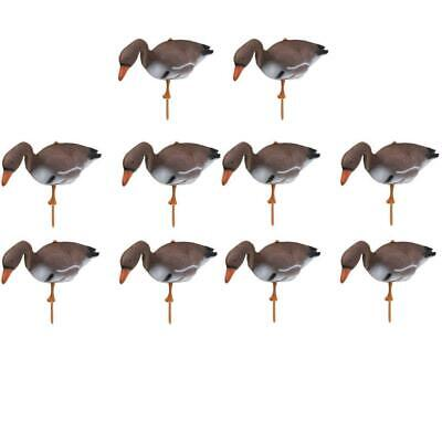 10x 3D Foaming Goose Hunting Decoy Goose Target Scarecrow Flyer Lawn Pond