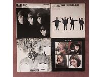 Job Lot of Four Beatles Vinyl Records inc. With The Beatles, Help!, Revolver & Let It Be