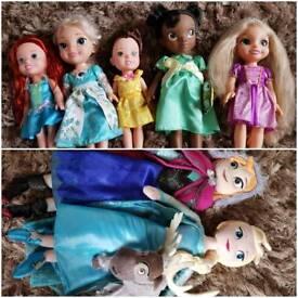 Disney princess bundle toddler dolls & plush toys. Tiana animation doll