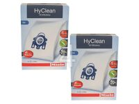 8 x Genuine MIELE GN HyClean 3D Vacuum Cleaner Hoover DUST BAGS & 4 x Filters