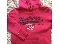 Genuine pink ladies superdry jumper size L