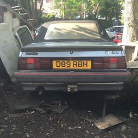 Vauxhall cavalier cabriolet D Reg spares or repair not starting been parked up for 5 years