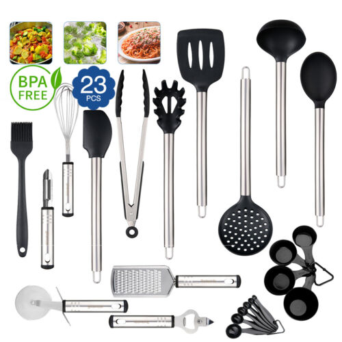 23pcs Stainless Steel Kitchen Utensil Set Cooking Tools Heat
