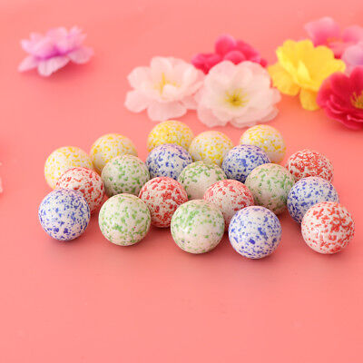 20pcs Speckled Glass Marbles Ball Stress Swirl Toys Marble Home Decor 25mm