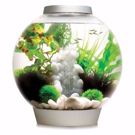 biOrb with Light 30 Litre Silver for Coldwater or Tropical fish
