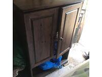 Solid dark oak wardrobe and changing unit