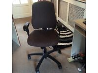 Computer chair brown great condition