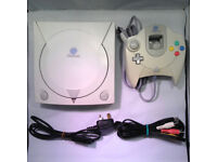 Sega dreamcast complete with 1 controller/power pack/scart lead 1 memory unit