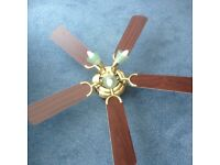 Nearly new ceiling fan with 5 paddles ,