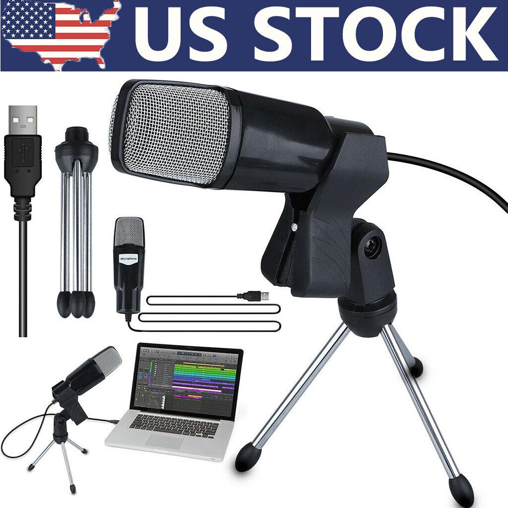 Professional USB Condenser Microphone Studio Sound Recording